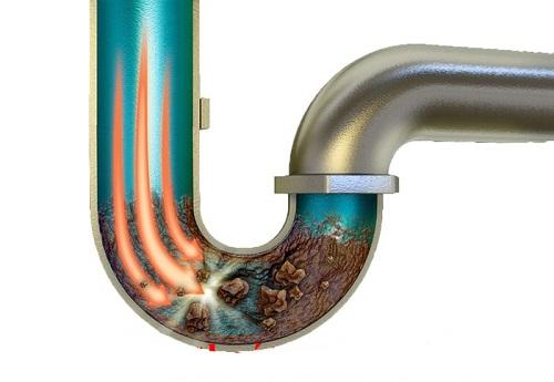 két nước bồn cầu không có nước